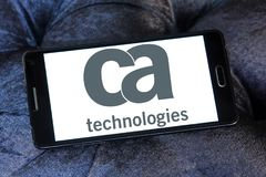 CA Technologies logo. Logo of CA Technologies on samsung mobile. CA Technologies is an American multinational publicly held corporation headquartered in New York Royalty Free Stock Photography