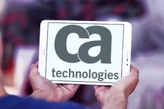 CA Technologies logo. Logo of CA Technologies on samsung tablet. CA Technologies is an American multinational publicly held corporation headquartered in New York Stock Photos
