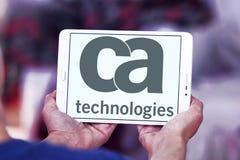 CA technologii logo zdjęcia stock