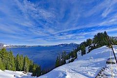 Cały Carter jezioro w pojedynczej ramie fotografia stock