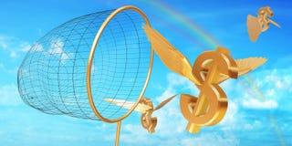 Caça do dólar Fotos de Stock Royalty Free