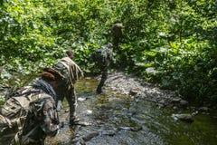 Caçadores de Taliban dos Navy Seals Fotografia de Stock