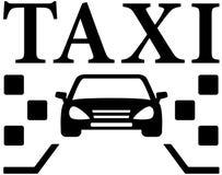 Cab black icon Royalty Free Stock Photos