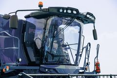 Cab of combine harvester Royalty Free Stock Image
