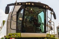 Cab of combine harvester Stock Photo