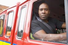 cab firefighter male sitting στοκ φωτογραφίες