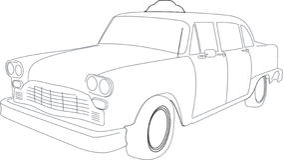 cab illustration taxi Στοκ Φωτογραφίες