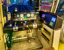 Cab of a local train in Osaka Stock Photos