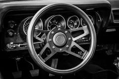 Cab of the mid-size car Plymouth Satellite (Third Generation) Royalty Free Stock Image