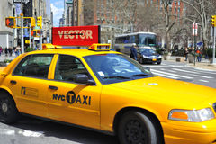 Cab on nyc street Royalty Free Stock Photography