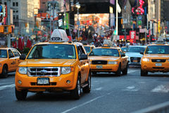 Cab on nyc street Royalty Free Stock Photo