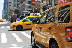 Cab on nyc street Royalty Free Stock Image