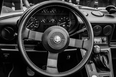 Cab of the roadster Alfa Romeo Spider Stock Photos