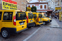 Cab-stand in Kusadasi Royalty Free Stock Images