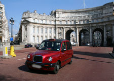 Cab/taxi in London. This is a taxi in London Royalty Free Stock Photos