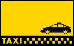 Cab yellow backdrop with taxi car Stock Photography