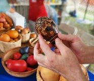 Cabaça peruana Maraca Fotos de Stock Royalty Free