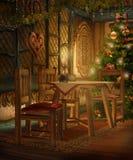 Cabaña 1 de la Navidad ilustración del vector