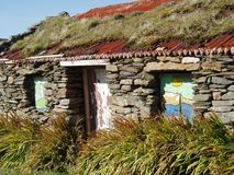 Cabaña abandonada, Inishbofin foto de archivo