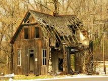 Cabaña abandonada vieja Fotografía de archivo