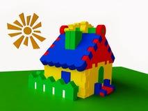 Cabaña colorida del juguete libre illustration