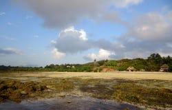 Cabaña de Cobba en el Océano Índico Imagen de archivo libre de regalías