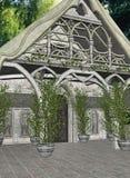 Cabaña de Elven ilustración del vector