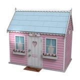 Cabaña de hadas rosada libre illustration