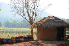 Cabaña de la arcilla Fotografía de archivo