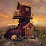 Cabaña de la bota stock de ilustración