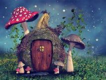 Cabaña de la calabaza de la fantasía stock de ilustración