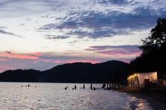 Cabaña de la costa en la playa Fotografía de archivo libre de regalías