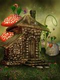 Cabaña de la hada del verano stock de ilustración