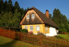 Cabaña de la mañana Imagen de archivo