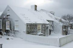 Cabaña de la Navidad foto de archivo