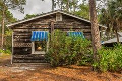 Cabaña de la playa en el pueblo de la herencia del condado de Pinellas, largo, la Florida fotos de archivo libres de regalías
