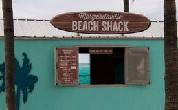 Cabaña de la playa de Margaritaville por la playa fotografía de archivo libre de regalías