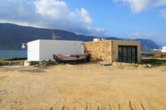 Cabaña de los pescadores, Graciosa, las Canarias Imagenes de archivo