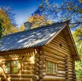 Cabaña de madera Fotografía de archivo