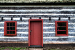 Cabaña de madera colonial Imagen de archivo