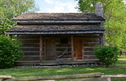 Cabaña de madera de Baggs Fotografía de archivo libre de regalías