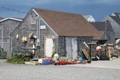 Cabaña de madera de la pesca Imagen de archivo