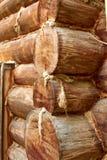Cabaña de madera del registro fotos de archivo
