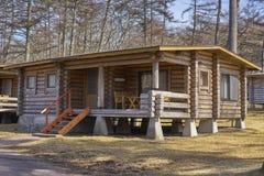 Cabaña de madera del silvicultor de Karuizawa Fotos de archivo