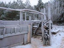 cabaña de madera en la costa Imágenes de archivo libres de regalías