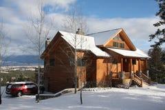 Cabaña de Montana Imagen de archivo libre de regalías