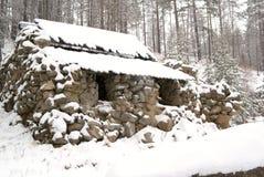 Cabaña de piedra Imágenes de archivo libres de regalías