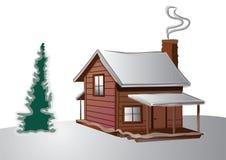 Cabaña del invierno ilustración del vector