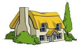 Cabaña del país o casa de la granja ilustración del vector