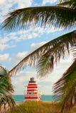 Cabaña del protector de vida de Miami Beach Fotos de archivo